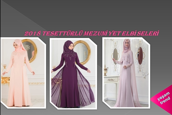 Tesettür Mezuniyet Balosu Kıyafetleri