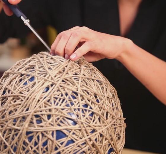 balon ve iple kolay avize yapımı