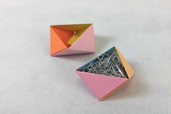 Origami  Tekniği ile Dekoratif Kap Yapımı