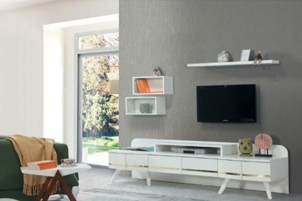 modern beyaz tv ünitesi tasarımları isa duran mobilya