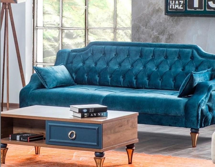 deniz mavisi koltuk takımları isa duran mobilya