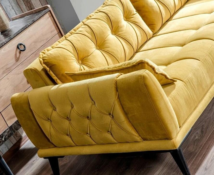 modern sarı koltuk takımları