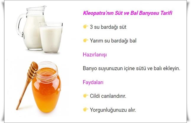 süt ve bal banyosu tarifi