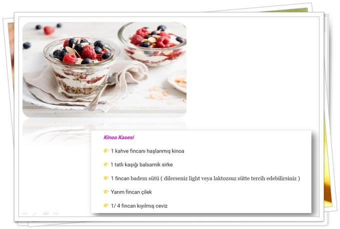 diyet kahvaltı tarifleri kinoa kasesi