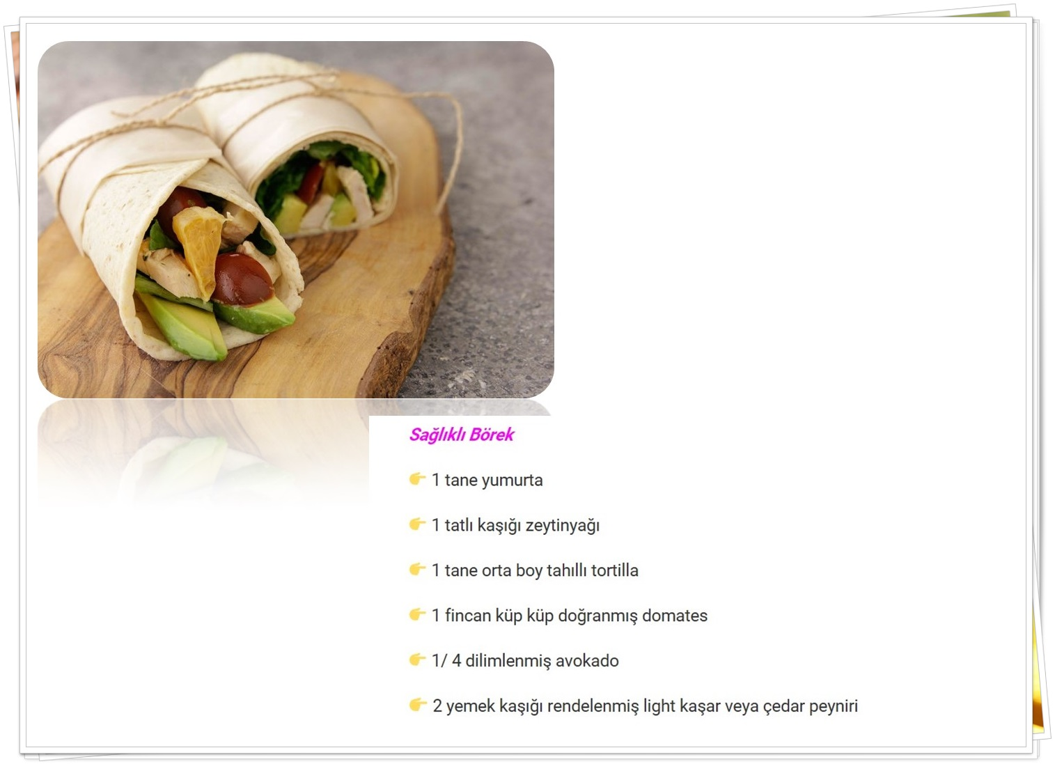 sağlıklı diyet börek tarifleri