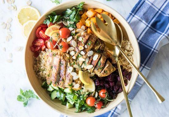 tavuklu kinoa salatası nasıl yapılır
