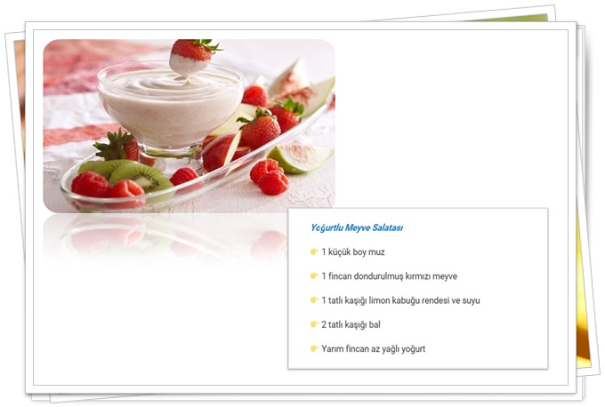 yoğurtlu meyve salatası diyet