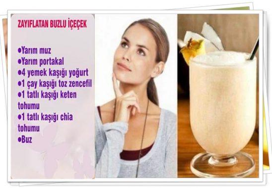 zayıflatan buzlu içecek tarifi dr. ayça kaya