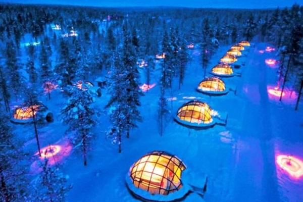 buz igloo finlandiya