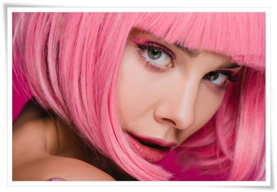farklı saç renkleri elektrik pembe