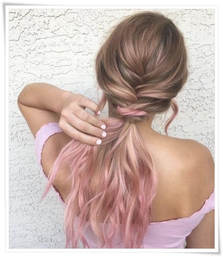 saç rengi modası pastel tonları