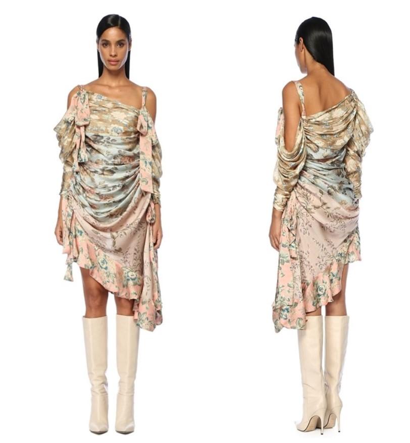 zimmermann çiçek desenli midi elbise