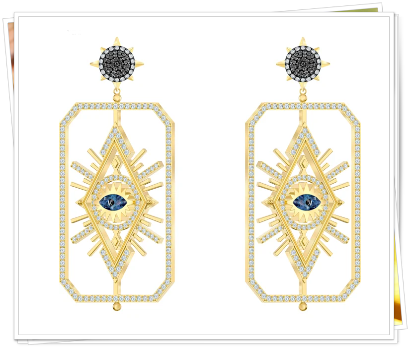 swarovski tarot magic iğneli küpe