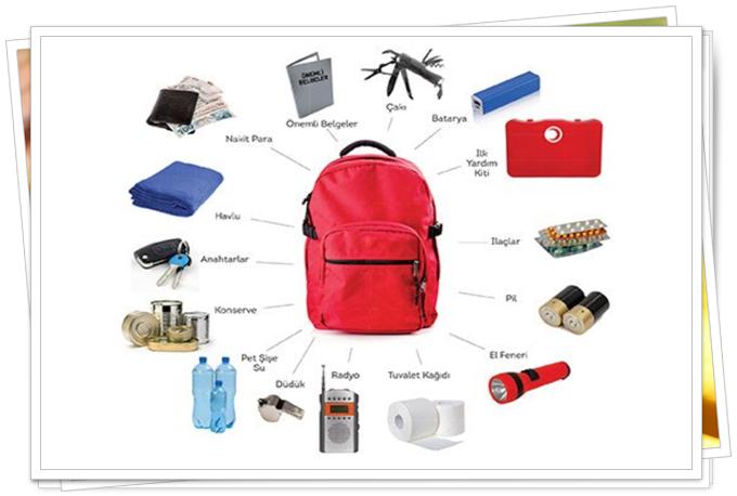 deprem çantasında neler olmalı