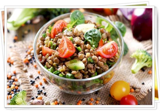 yeşil mercimekli salata tarifi