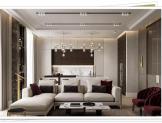 modern oturma odası aydınlatma sistemleri