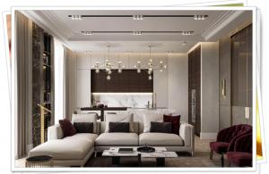 Modern ,Sade Oturma Odası Dekorasyonu