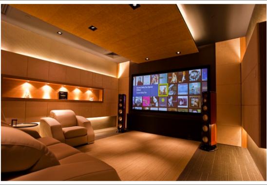 ev sinema odası dekorasyon örnekleri