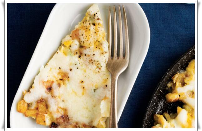 kabaklı patatesli omlet nasıl yapılır
