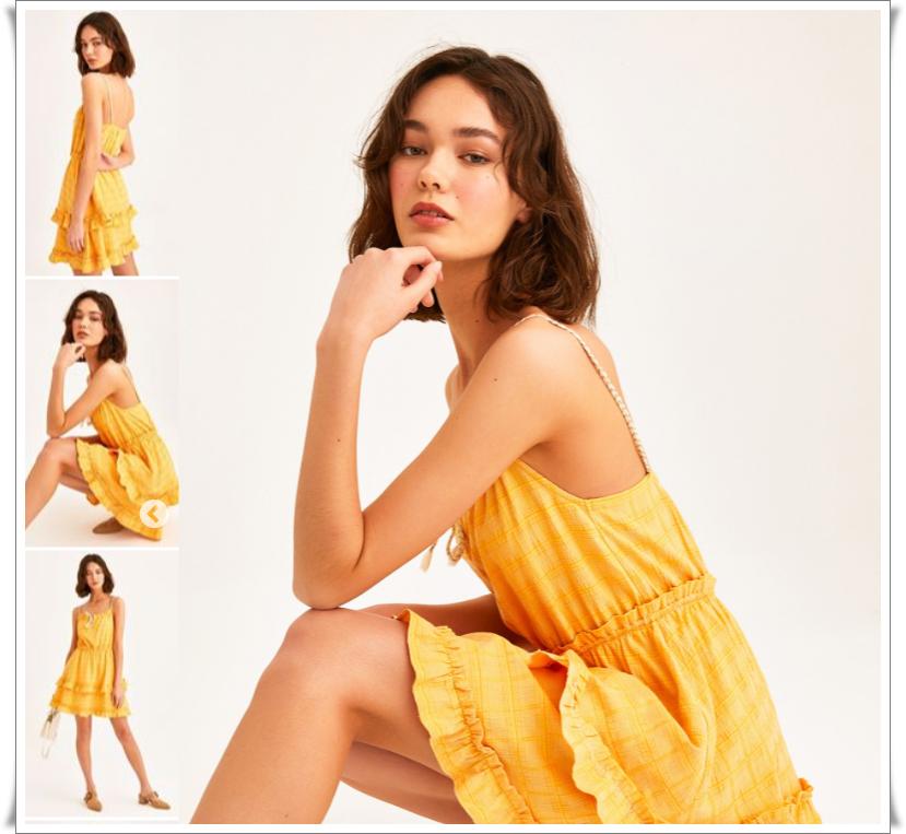 yazlık fırfırlı mini elbise modelleri oxxo
