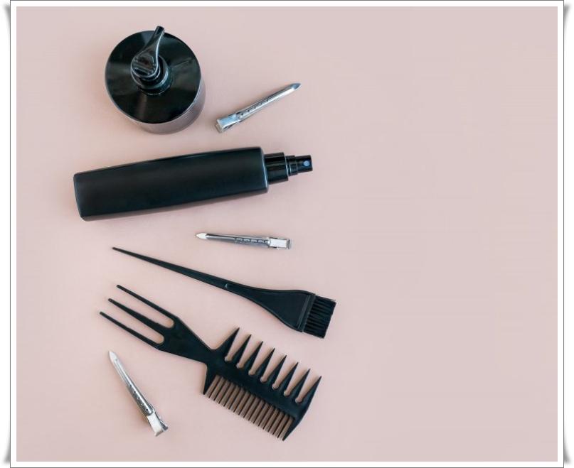 saç boyamak için gerekli malzemeler