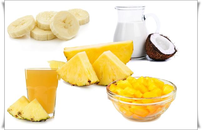 ananaslı hindistan cevizli smoothie tarifi