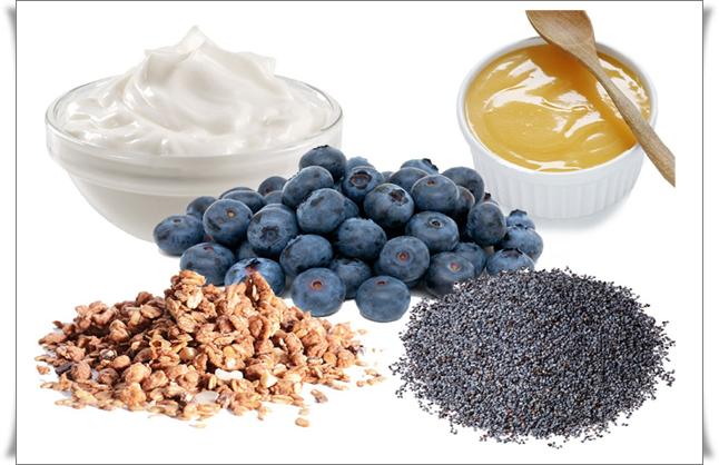haşhaş tohumlu granolalı yoğurt tarifi
