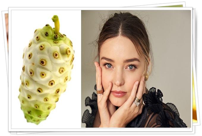 miranda kerr cildinin sırrı noni meyvesi