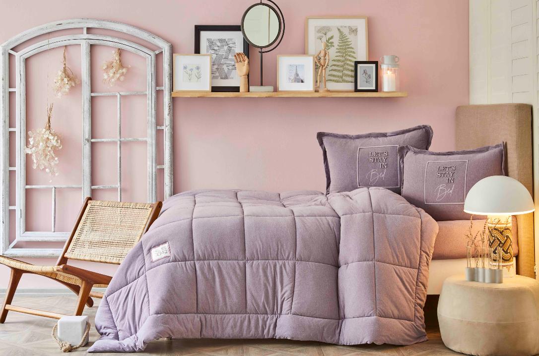 karaca home tek kişilik cotton comfort uyku seti
