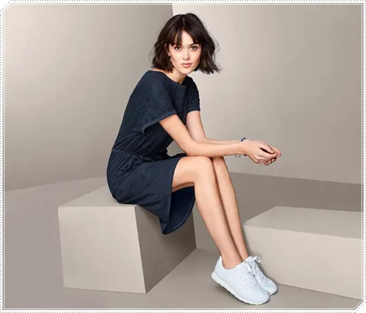 organik pamuklu delik işlemeli jersey elbise