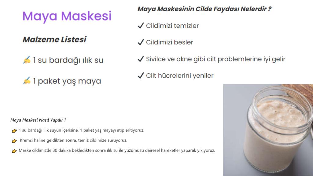 maya maskesi tarifi